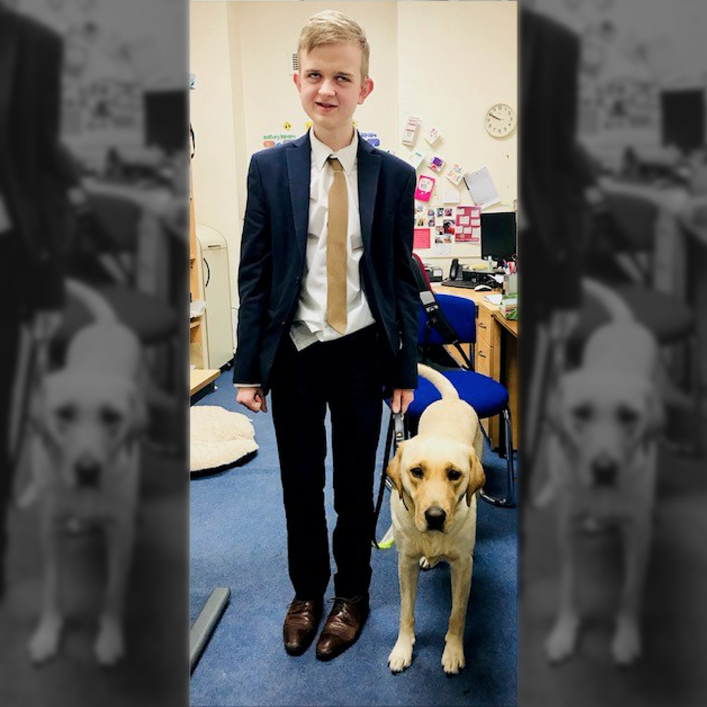 Boy with his Guide Dog