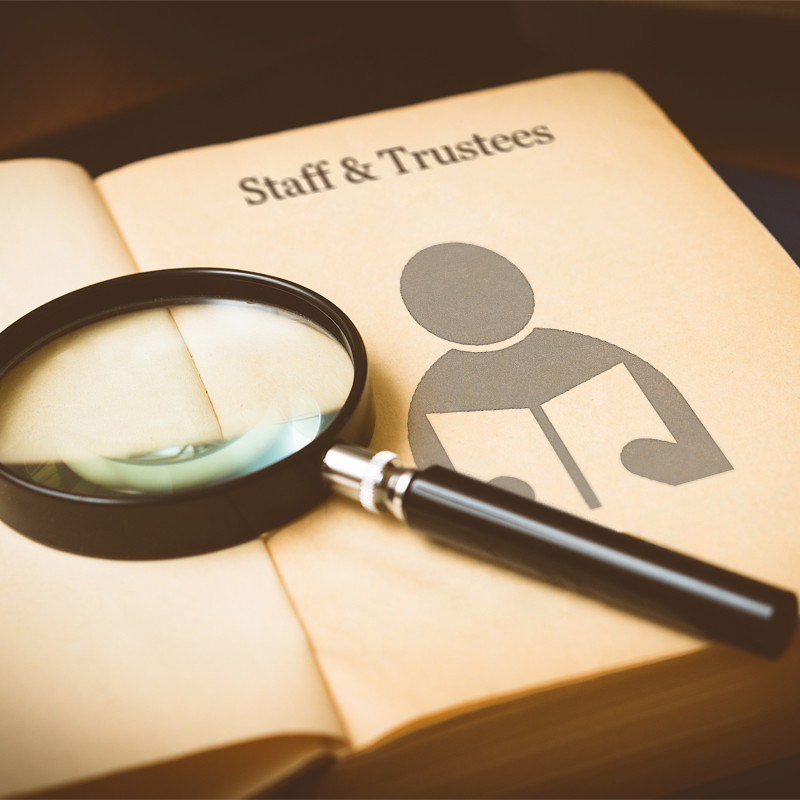 Staff and Trustees Book Magnifier